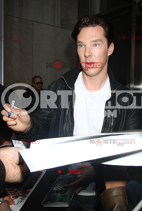 May 02, 2012: Benedict Cumberbatch at VH1 Morning Buzz to talk about his BCC series Sherlock on PBS network in America in New York City. Credit: RW/MediaPunch Inc.