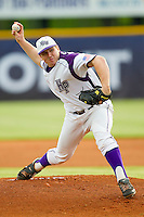 High Point Panthers starting pitcher Ryan Retz #34 in action against the VMI Keydets at Willard Stadium on March 30, 2012 in High Point, North Carolina.  The Panthers defeated the Keydets 11-3.  (Brian Westerholt/Four Seam Images)