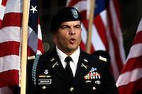A Military member attends the annual Veterans Day parade in New York.  10.11.2014. Eduardo Munoz Alvarez/VIEWpress