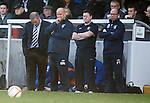 Ally McCoist looks for the ground to open up and swallow him