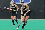09 November 2014: Wake Forest's Emily Conroe. The Wake Forest University Demon Deacons played the Syracuse University Orange at Jack Katz Stadium in Durham, North Carolina in the 2014 Atlantic Coast Conference NCAA Division I Field Hockey Championship Game. Wake Forest won the ACC Championship game 2-0.