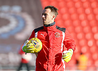 Alex Cairns of Fleetwood Town warming up prior to the Sky Bet League 1 match between Doncaster Rovers and Fleetwood Town at the Keepmoat Stadium, Doncaster, England on 17 February 2018. Photo by Leila Coker / PRiME Media Images.