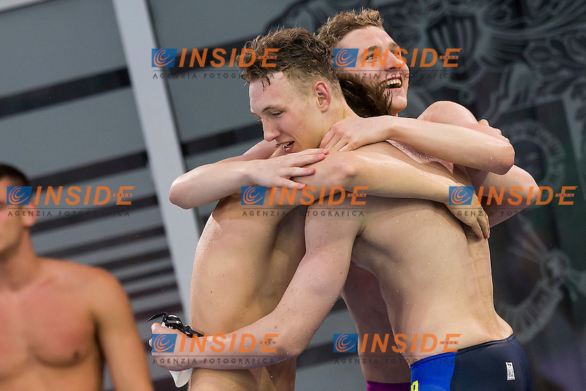 Team Poland POL<br /> 4X100 Freestyle Relay Men Final Bronze Medal<br /> LEN 43rd Arena European Junior Swimming Championships<br /> Hodmezovasarhely, Hungary <br /> Day01 06-07-2016<br /> Photo Andrea Masini/Deepbluemedia/Insidefoto