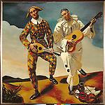 Author: Andre Derain (1880-1954)<br /> Description: Two clowns. Oil on canvas (1924).