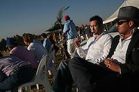 JOHANNESBURG, SOUTH AFRICA - JULY 16:   Spectators watch a polo match in Johannesburg, South Africa.  (Photo by Landon Nordeman)