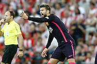 FC Barcelona's Gerard Pique during La Liga match. August 28,2016. (ALTERPHOTOS/Acero) /NORTEPHOTO