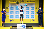 Egan Bernal (COL) Team Ineos Grenadiers retains the White Jersey at the end of Stage 8 of Tour de France 2020, running 141km from Cazeres-sur-Garonne to Loudenvielle, France. 5th September 2020. <br /> Picture: ASO/Pauline Ballet | Cyclefile<br /> All photos usage must carry mandatory copyright credit (© Cyclefile | ASO/Pauline Ballet)