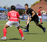 Simon Child during the Olympic Qualifying Hockey match between the Blacksticks Men and Korea, TET Multisport Centre, Stratford, New Zealand. Sunday 3 November 2019. Photo: Simon Watts/www.bwmedia.co.nz/HockeyNZ