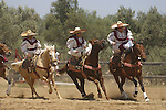 MEXICAN WOMEN DEMONSTRATE THEIR EQUESTRIAN SKILLS at the ANNUAL WINE FESTIVAL<br />