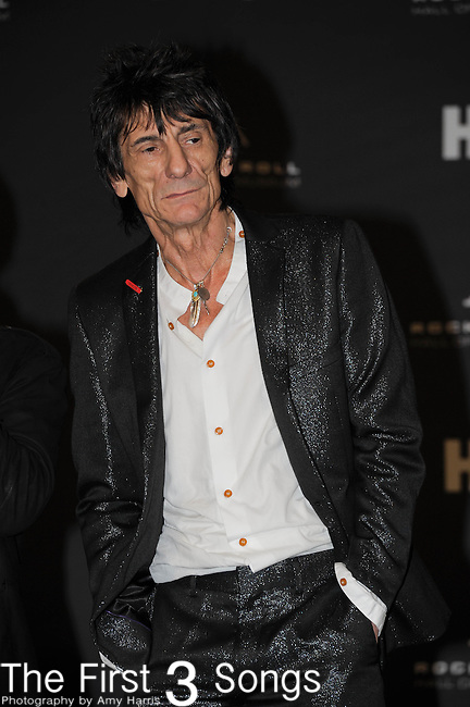 Ron Wood of The Small Faces/The Faces in the press room of the Rock & Roll Hall of Fame Induction Ceremony in Cleveland, Ohio on April 14, 2012.