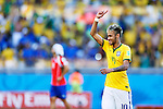 Neymar (BRA),<br /> JUNE 28, 2014 - Football / Soccer :<br /> Neymar of Brazil celebrates after winning the penalty shoot out during the FIFA World Cup Brazil 2014 Round of 16 match between Brazil 1(3-2)1 Chile at Estadio Mineirao in Belo Horizonte, Brazil. (Photo by D.Nakashima/AFLO)