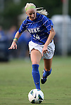 20 September 2012: Duke's Erin Koballa. The University of Maryland Terrapins played the Duke University Blue Devils to a 2-2 tie after overtime at Koskinen Stadium in Durham, North Carolina in a 2012 NCAA Division I Women's Soccer game.