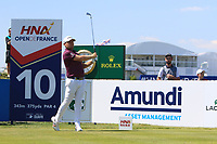 Tyrrell Hatton  (ENG) on the 10th during Round 1 of the HNA Open De France at Le Golf National in Saint-Quentin-En-Yvelines, Paris, France on Thursday 28th June 2018.<br /> Picture:  Thos Caffrey | Golffile