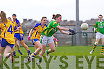 Maria Quirke for the Kerry ladies team that played Clare last Saturday afternoon in Listowel.