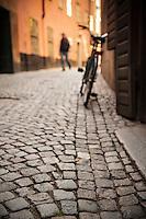 Cobble stone street, Gamla Stan, Stockholm, Sweden