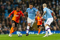 Tete of Shakhtar Donetsk and Rodri of Manchester City during the UEFA Champions League Group C match between Manchester City and Shakhtar Donetsk at the Etihad Stadium on November 26th 2019 in Manchester, England. (Photo by Daniel Chesterton/phcimages.com)