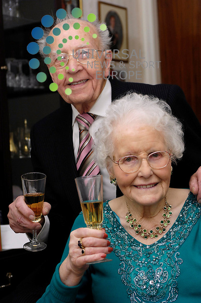 Robert Erskine (95) with wife Susan (94) enjoy their 70th..wedding anniversary at home in Boness.