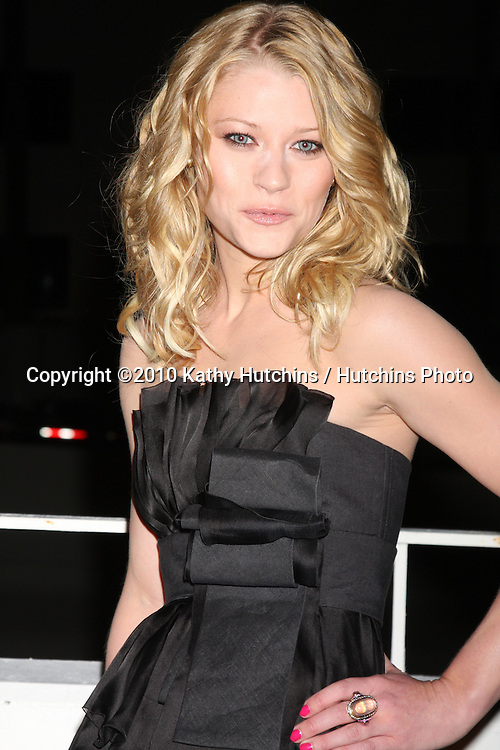 Emilie deRavin.arriving at the 3rd Annual Art of Elysium Gala.Rooftop of Parking Garage across from Beverly Hilton Hotel.Beverly Hills, CA.January 16, 2010.©2010 Kathy Hutchins / Hutchins Photo....