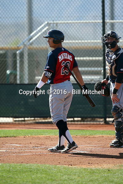 Mark Mathias - Cleveland Indians 2016 spring training (Bill Mitchell)