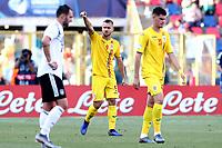 George Puscas of Romania celebrates after scoring the goal of 1-1 <br /> Bologna 27-06-2019 Stadio Renato Dall'Ara <br /> Football UEFA Under 21 Championship Italy 2019<br /> Semifinal <br /> Germany - Romania <br /> Photo Cesare Purini / Insidefoto