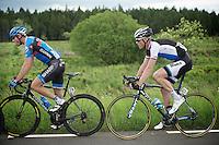 later stage winner Lars Boom (NLD) behind Steele Von Hoff (AUS)<br /> <br /> 2013 Ster ZLM Tour <br /> stage 4: Verviers - La Gileppe (186km)