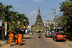 LAOS Vientiane, old buddist temple Haw Pha Kaeo, it once held the famous emerald buddha / Alter Buddhistischer Tempel Haw Pha Kaeo
