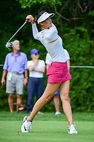 Michelle Wie (USA) watches her tee shot on 11 during Thursday's round 1 of the 2017 KPMG Women's PGA Championship, at Olympia Fields Country Club, Olympia Fields, Illinois. 6/29/2017.<br /> Picture: Golffile | Ken Murray<br /> <br /> <br /> All photo usage must carry mandatory copyright credit (&copy; Golffile | Ken Murray)