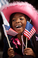 An unidentified girl at the RodeoHouston parade in downtown Houston in 2014.