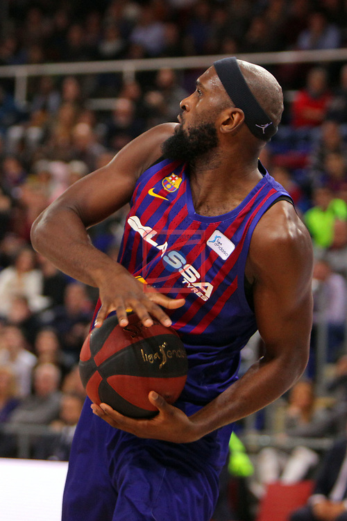 League ACB-ENDESA 2018/2019. Game: 14.<br /> FC Barcelona Lassa vs Monbus Obradoiro: 79-73.<br /> Chris Singleton.