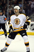 February 17th 2007:  Jason York (25) of the Boston Bruins looks for the puck vs. the Buffalo Sabres at HSBC Arena in Buffalo, NY.  The Bruins defeated the Sabres 4-3 in a shootout.