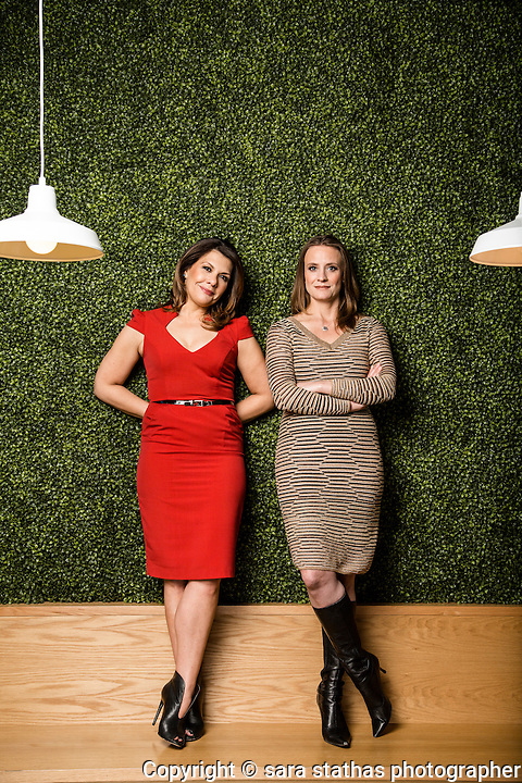 Sarah Ek-Thompson and Brook Jay, co-founders of All Terrain, a marketing agency based in Chicago, IL.