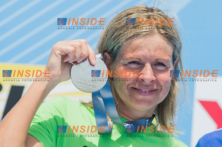 MAURER Angela Alexandra GER silver medal<br /> Women 25 km <br /> Open Water<br /> 15th FINA World Aquatics Championships<br /> Barcelona 19 July - 4 August 2013<br /> Barcelona (Spain) 27/07/2013 <br /> &copy; Giorgio Perottino / Deepbluemedia.eu / Insidefoto