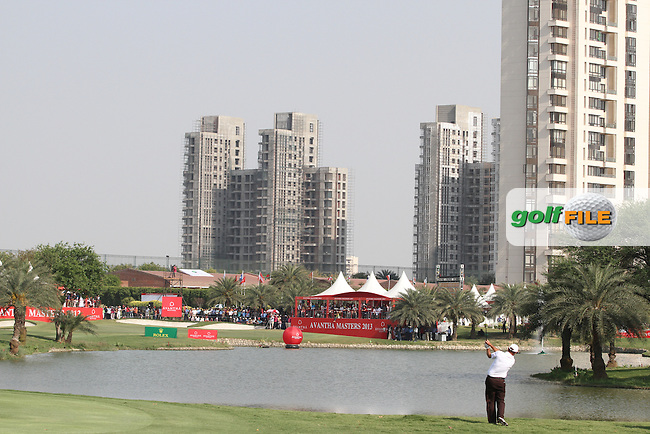 Scott Hend (AUS) on the 18th during Round 4 of the 2013 Avantha Masters, Jaypee Greens Golf Club, Greater Noida, Delhi, 17/3/13..(Photo Jenny Matthews/www.golffile.ie)