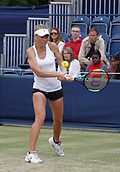 June 16th 2017, The Northern Lawn tennis Club, Manchester, England; ITF Womens tennis tournament; Magdalena Frech (POL) in action during her quarter final singles match against Zarina Dyas (KAZ); Dyas won in straight sets