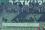 12.03.2018, Weserstadion, Bremen, GER, 1.FBL, SV Werder Bremen vs 1. FC Koeln<br /> <br /> im Bild<br /> Fans / Ultras von Werder Bremen boykottieren Montagsspiele mit Fernbleiben, Ostkurve des Weserstadions mit L&uuml;cken / Luecken, Fanprotest, Fan-Boykott, sperren einen Teil der Ostkurve / Trib&uuml;ne ab, <br /> <br /> Foto &copy; nordphoto / Ewert