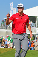 Jon Rahm (ESP) sinks his putt on 15 during round 7 of the World Golf Championships, Dell Technologies Match Play, Austin Country Club, Austin, Texas, USA. 3/26/2017.<br /> Picture: Golffile | Ken Murray<br /> <br /> <br /> All photo usage must carry mandatory copyright credit (&copy; Golffile | Ken Murray)