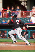 Richmond Flying Squirrels shortstop Rando Moreno (17) during a game against the Erie SeaWolves on May 27, 2016 at Jerry Uht Park in Erie, Pennsylvania.  Richmond defeated Erie 7-6.  (Mike Janes/Four Seam Images)