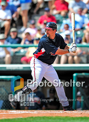 12 March 2009: Atlanta Braves' infielder Casey Kotchman in action during a Spring Training game against the Washington Nationals at Disney's Wide World of Sports in Orlando, Florida. The Braves defeated the Nationals 6-2 in the Grapefruit League matchup. Mandatory Photo Credit: Ed Wolfstein Photo