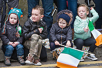 Corner George Street Fair Street<br /> St Patricks Day Parade route from George Street through Fair Street Peter Street Shop Street and ending some where down along the North Quay