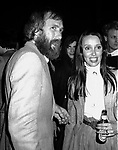 Shelley Duvall & Jim Henson attend a party celebrating the release of TIME BANDITS at the Underground Disco in New York City on<br />