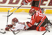 Ashley Motherwell (BC - 18), Kelly Sabatine (SLU - 16) - The Boston College Eagles defeated the visiting St. Lawrence University Saints 6-3 (EN) in their NCAA Quarterfinal match on Saturday, March 10, 2012, at Kelley Rink in Conte Forum in Chestnut Hill, Massachusetts.