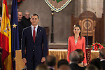 Prince Felipe of Spain and Princess Letizia of Spain attend the `Principe de Viana´ award at San Salvador de Leyre monastry in Leyre, Spain. June 04, 2013. (ALTERPHOTOS/Victor Blanco)