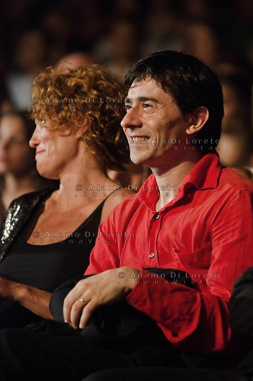 PESCARA (PE) 08/07/2012 - 39° FILM FESTIVAL INTERNAZIONALE FLAIANO. PREMIAZIONE FINALE. IN FOTO L'ATTORE LUIGI LO CASCIO. FOTO DI LORETO ADAMO