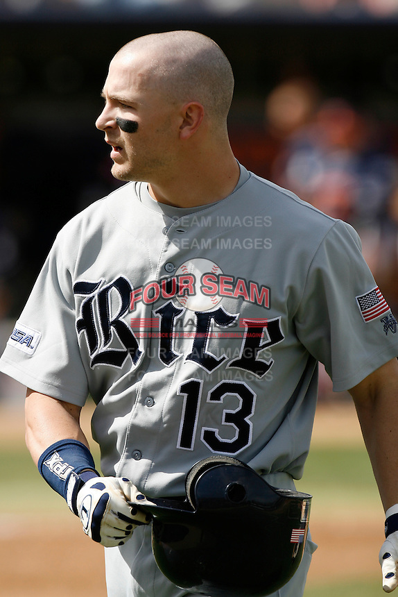 Tyler Henley of the Rice Owls during a game against the Cal State Fullerton Titans at Goodwin Field on March 4, 2007 in Fullerton, California. (Larry Goren/Four Seam Images)