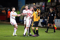Tempers flare between Uche Ikpeazu of Cambridge United and Billy Kee of Accrington Stanley during Cambridge United vs Accrington Stanley, Sky Bet EFL League 2 Football at the Cambs Glass Stadium on 11th November 2017