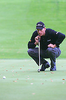 THOMASTOWN, IRELAND. Jim Furyk from USA lines up his ball on the 11th green during the American Express Championship day two at the Mount Juliet Golf Club on October 1th, 2004 in Thomastown, Ireland ..Photo AFP/NEWSFILE/EOIN CLARKE..(Photo credit should read Eoin Clarke/NEWSFILE/AFP)...This Picture has been sent you under the condtions enclosed by:.Newsfile Ltd..the Studio,.Millmount Abbey,.Drogheda,.Co Meath..Ireland..Tel: +353(0)41-9871240.Fax: +353(0)41-9871260.GSM: +353(0)86-2500958.email: pictures@newsfile.ie.www.newsfile.ie.FTP: 193.120.102.198..This picture is from Fran Caffrey@newsfile.ie