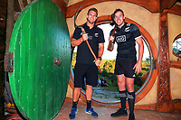 NZ captains Scott Curry and Tim Mikkelson at Hobbiton in Matamata, New Zealand on Tuesday, 30 January 2018. Photo: Dave Lintott / lintottphoto.co.nz