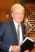 """News Corporation Chairman and CEO Rupert Murdoch arrives at the United States Senate Committee on the Judiciary Subcommittee on Antitrust, Competition, and Business and Consumer Rights hearing on """"The NewsCorp/Direct TV Deal: The Marriage of Content and Global Distribution"""" in Washington, DC on June 18, 2003....."""