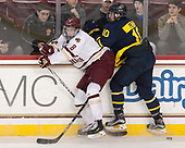 Colin White (BC - 18), Derek Petti (Merrimack - 10) - The visiting Merrimack College Warriors defeated the Boston College Eagles 6 - 3 (EN) on Friday, February 10, 2017, at Kelley Rink in Conte Forum in Chestnut Hill, Massachusetts.