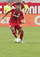 July 20, 2013: Toronto FC midfielder Matias Laba #20 in action during a game between Toronto FC and the Columbus Crew at BMO Field in Toronto, Ontario Canada.<br /> Toronto FC won 2-1.